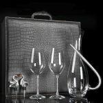 5pcs Decanter + Glasses + Dust Plugs Set(Leather Case)